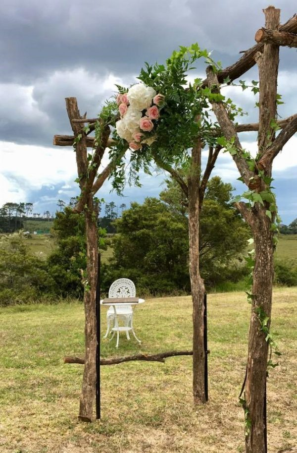 Wedding Flower Arch with floral centre piece