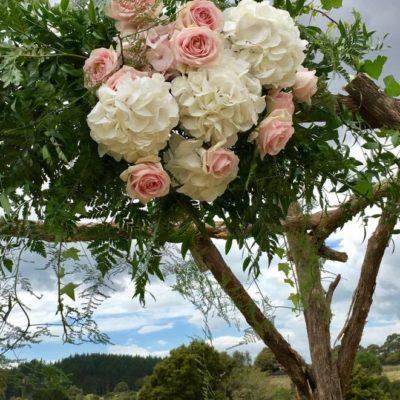 Wedding flower arch for country wedding