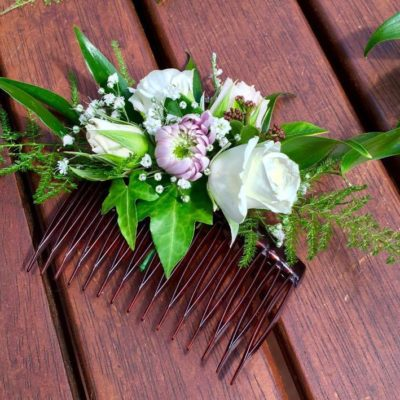 Flower hair comb for bridesmaid