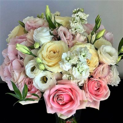 Bride's handtied wedding bouquet