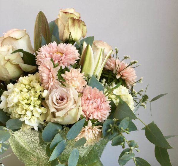 Pretty pastel shades this bouquet
