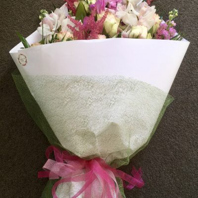 Glamourous size wrapped bouquet