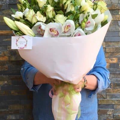 Large lush bouquet as sympathy flowers