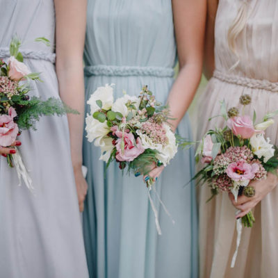 Vintage handited posies for bridesmaids