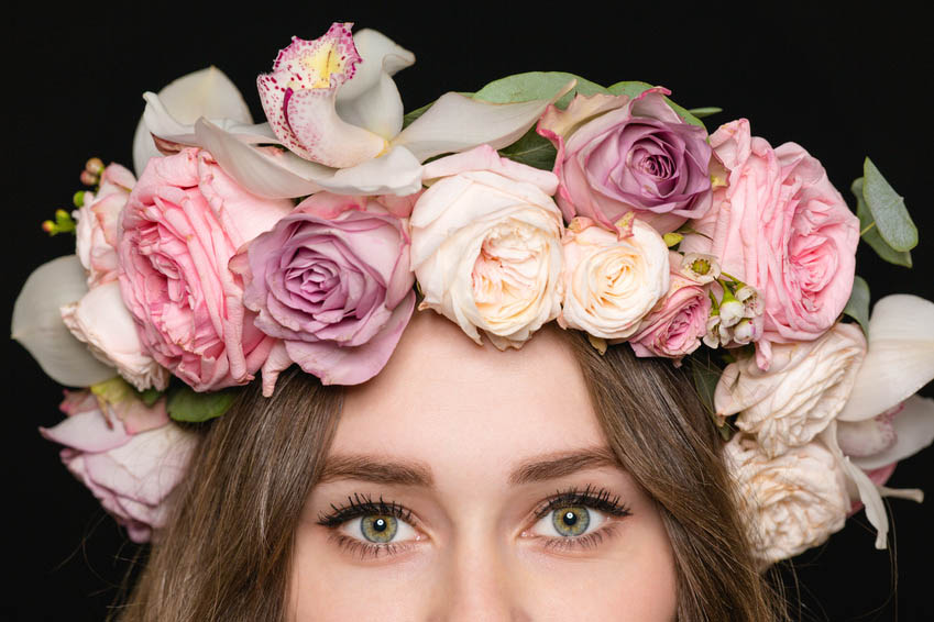 Beautiful floral wedding crown