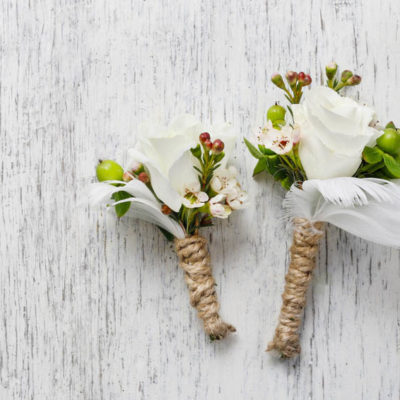 Wedding buttonholes or boutinnieres