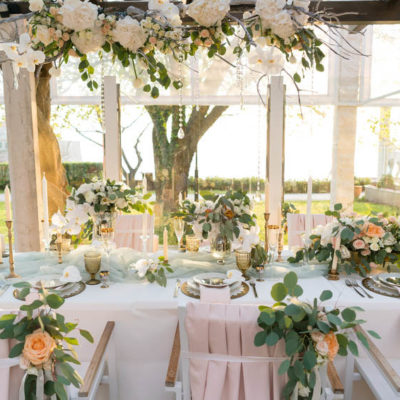 Bespoke wedding reception flowers