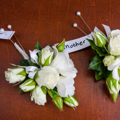 Wedding corsages for mothers of the bride and groom