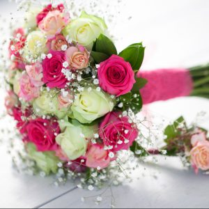 Wedding flower package for bridal party