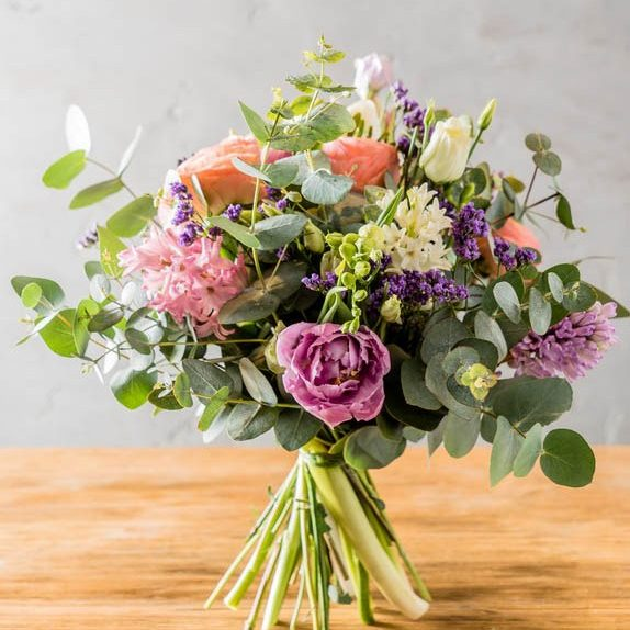 Spring flowers in luscious bouquet