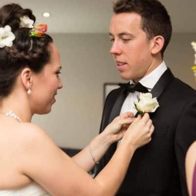 Vibrant Orange and white wedding