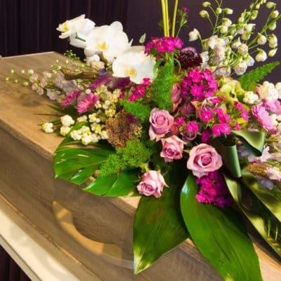 Modern style sympathy flower sheaf