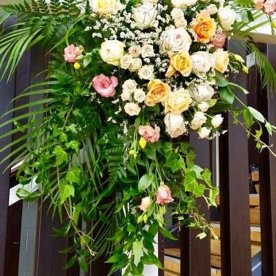Lush florals for wedding flower archame