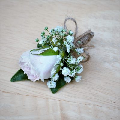Cute wee buttonhole for son of bride and groom