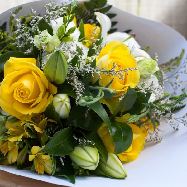 Close up of Modern Chic flower bouquet of fresh flowers