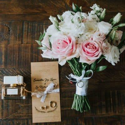 Hand tie bridal bouquet