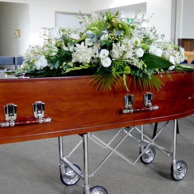 Sympathy flower casket spray for funeral
