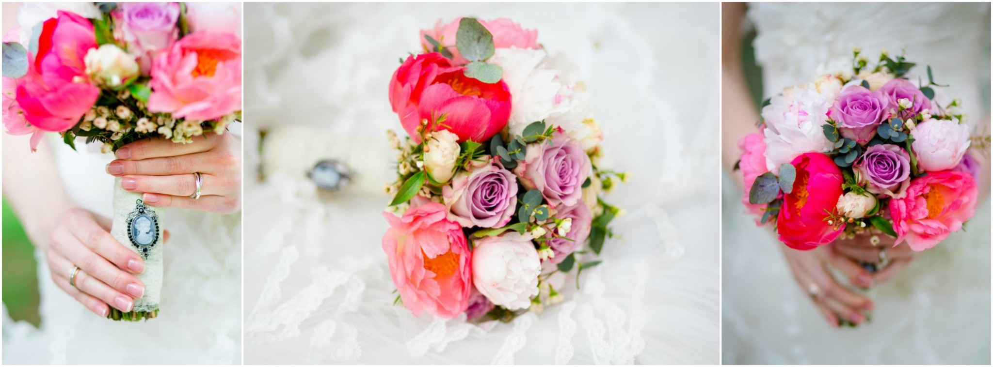3 pictures of Bridal Bouquets for Wedding Flowers in Pink