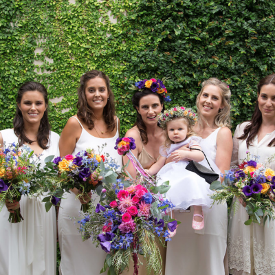 Bright and lush wedding bouquets