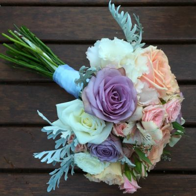 Pretty pastel posy bouquet