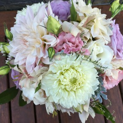 Pretty pastel wedding bouquet