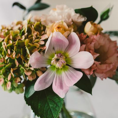 Wedding guest table flowers