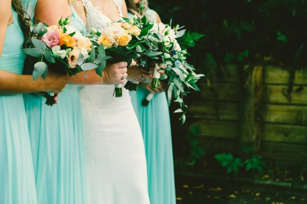 Wedding Bouquets in soft pastel colours