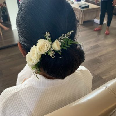 Wedding florals for hair