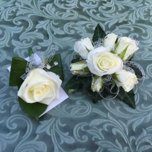 Corsage and buttonhole combo